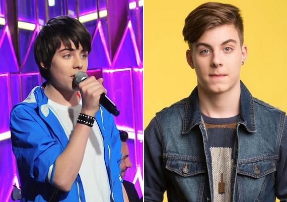 Így nézett ki Alex Az ének iskolája idején, és ilyen most. A fiú decemberben lesz 16 éves: vonásai ugyanolyanok, de sokkal felnőttesebbek, jóképű fiatalember lett belőle.