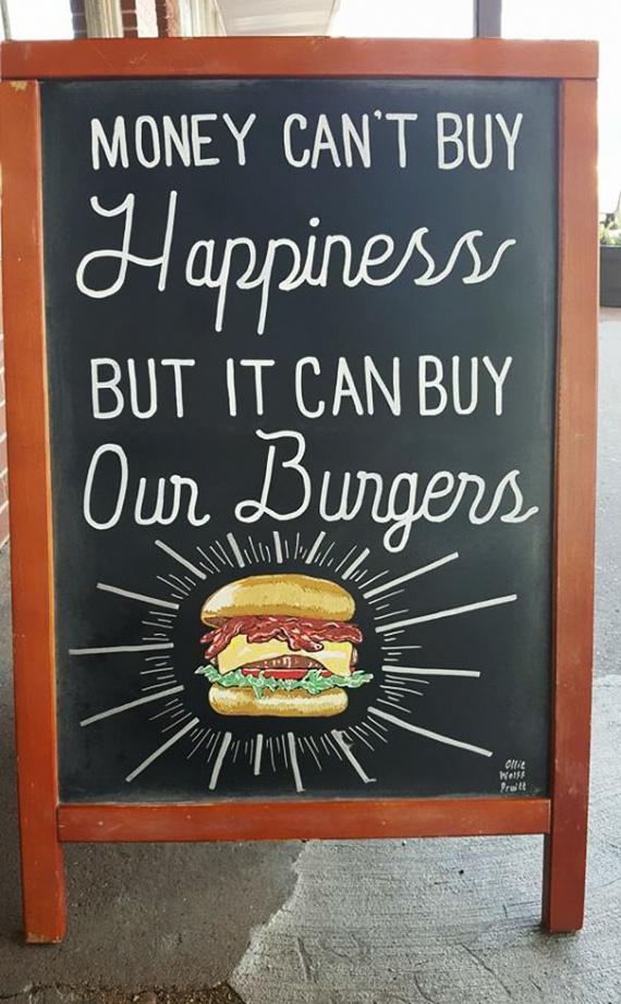 """""""A pénz nem boldogít. De meg tudod rajta venni a hamburgereinket."""""""
