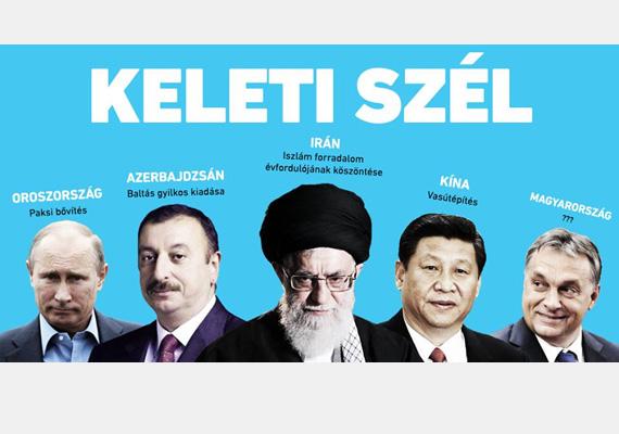 Ez a plakát nem hivatalos, Orbán Viktor miniszterelnök szívének kelethez húzását tükrözi.