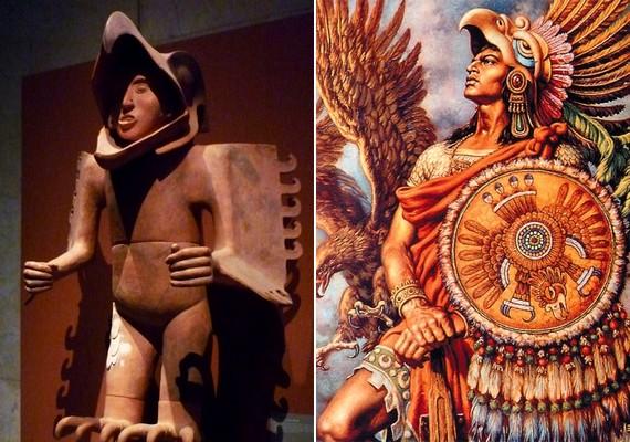 Az aztékok úgy néztek ki, mintha lenyelte volna őket egy óriásmadár.