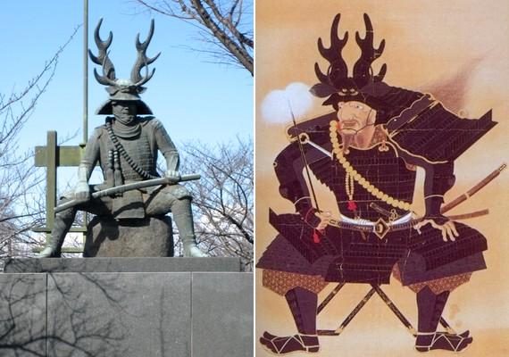 Tadakatsu Honda japán tábornok kemény fellépéséről egy kicsit elvonja a figyelmet túlcicomázott viselete.