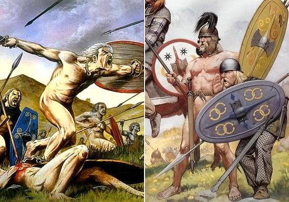 A kelták nem csináltak ügyet az egyenruhából: nemes egyszerűséggel ádámkosztümben mentek a csatába.