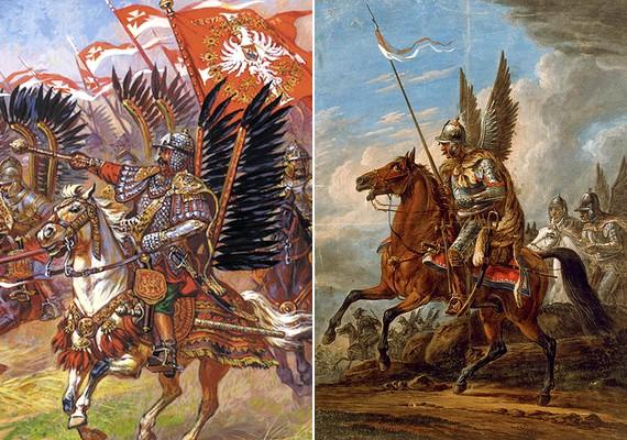 A lengyel huszárok hatalmas angyalszárnya is megmosolyogtató.