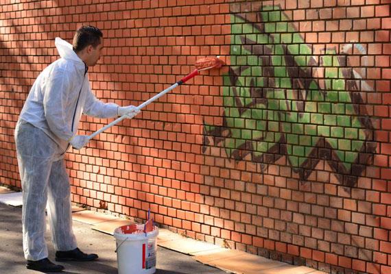 Vona Gábor két képpel is helyet kapott az összeállításban. Itt éppen közmunkásnak állt, hogy Szeged belvárosának falfirkáit eltüntesse. Rejtély, hogy miért áll ilyen messze a faltól, amikor védőruha van rajta.