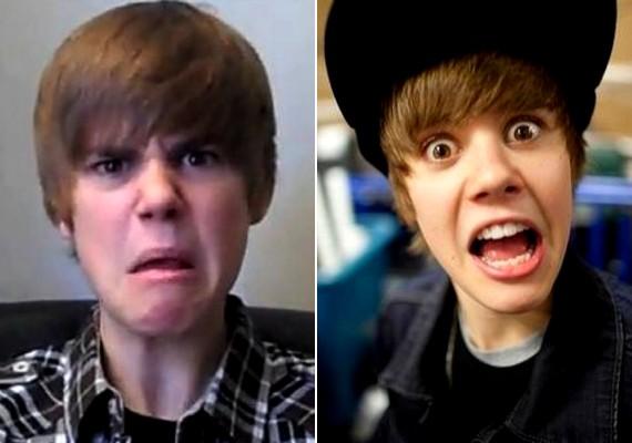Sok kínos fotó készült már Justin Bieber ciki ruháiról, de az arckifejezései is említést érdemelnek.