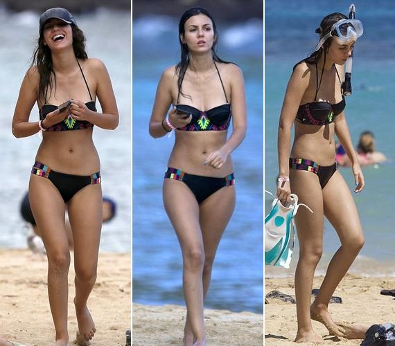 Lesifotósok hada rohamozta meg Victoria Justice-t a napokban, Hawaiion töltött vakációja alatt. A képek több helyen is megjelentek, a kommentelők pedig úgy vélik, a színésznő túl sokat fogyott.