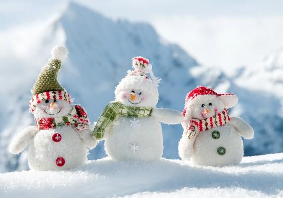 Ha várod a telet, az apró hóemberek is felvidítanak majd. Kattints ide a nagy felbontású képért! »