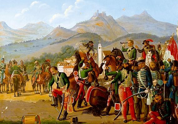 Eredeti állapotáról nem maradt fent kép, a festményeken is csak a romok szerepelnek. Azokon a műalkotásokon is megjelenik a vár, amelyeknek témája a világosi fegyverletétel. A fenti kép egy ismeretlen magyar festő munkája a 19. század közepéről.