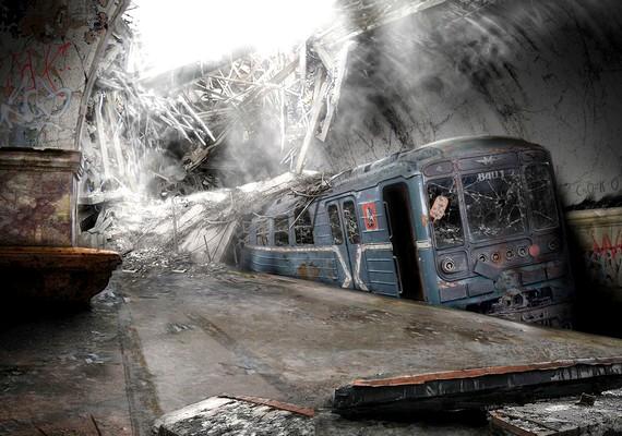 A moszkvai metró alagútjába már beszűrődik a fény.