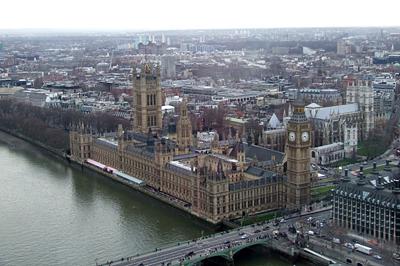 A Parlament madártávlatból