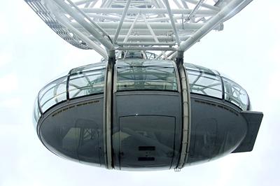 A London Eye kapszulájából messzire ellátni