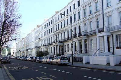 London tipikus házsorai
