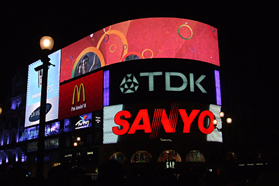 A Piccadilly Circus éjjel