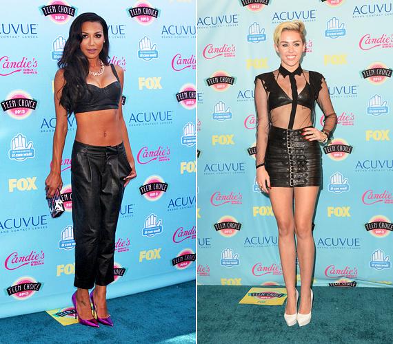 Miley az idei Teen Choice Awardson kitette bájait, de nem ő volt az egyetlen. A Glee-ből ismert Naya Rivera sem rejtegette bájait.