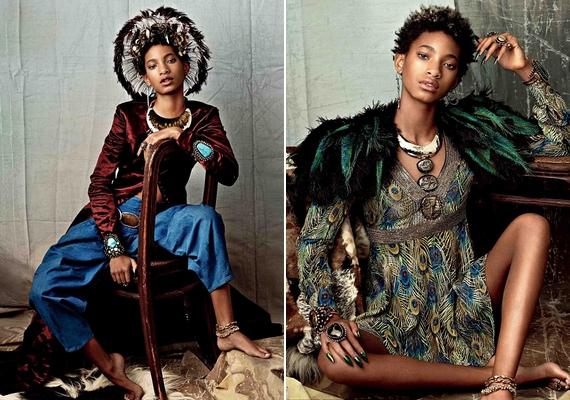 A lány különböző különleges szettekben állt modellt a fotókhoz.