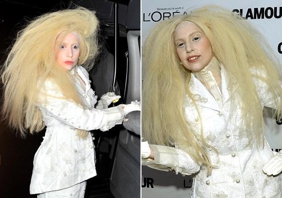 Lady Gaga egy kicsit más okból hívta fel magára a figyelmet: öltözéke egy halloweeni kosztümnek is beillett volna.