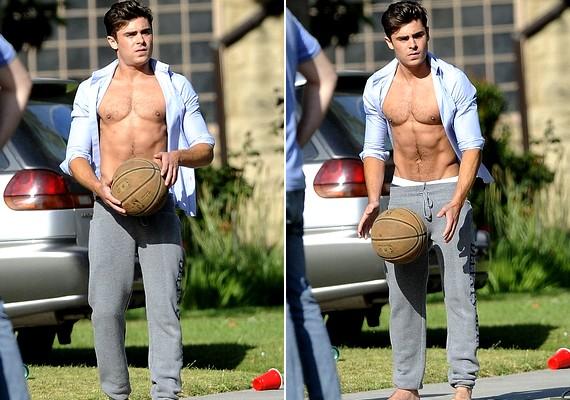 A színész a kosárlabdával is jól bánik.
