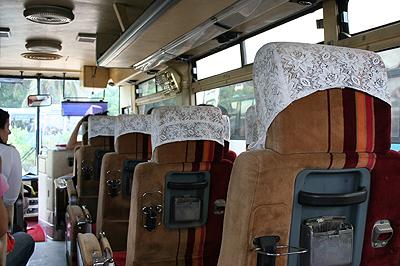 Busz belülről - modernebbik változat