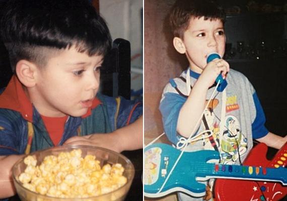 Az énekes nagyon cuki kisfiú volt, és már egészen kicsi korában is szeretett gitárral a kezében produkciózni a mikrofon előtt.