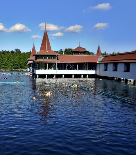 Hévíz: a világon egyedülállónak számító, tőzegmedrű gyógytó miatt külföldiek ezrei zarándokolnak Magyarországra. Az egészségre kifejtett jótékony hatásai mellett a Hévízi-tó látványos és gyönyörű: tavirózsái ikonikussá váltak.