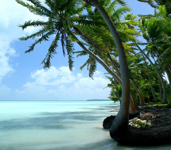 Az Egyenlítő mentén elhelyezkedő Kiribati 33 korallszigete is rohamosan pusztul és süllyed.