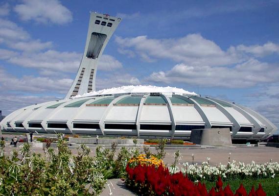 A montreali Olimpiai Stadion tornyát szándékosan építették ferdére: 175 és fél méteres magasságával a legnagyobb ferde torony a világon.