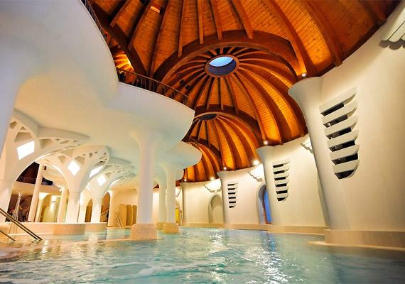 A fürdők fürdőjének nevezett komplexum nem csupán sokrétű szolgáltatásairól, de a különleges, Makovecz-stílusú épületéről is hamar ismertté vált.