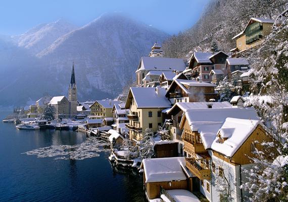 A festői ausztriai falu, Hallstatt télen is csodaszép. Kattints ide a nagy felbontású képért!