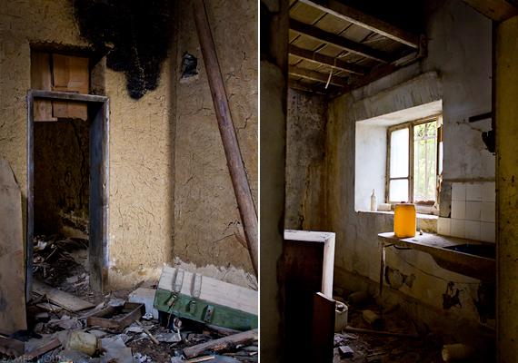 Volt, aki még időben elhagyta otthonát, a romok jó része pánikszerű menekülésről tanúskodik.
