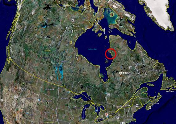 A ma már világhírű hely Kanadában, a különleges növény- és állatvilágáról is híres Hudson-öbölben található.