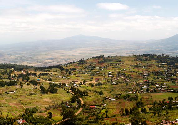 A hasadékvölgy Kenyában.