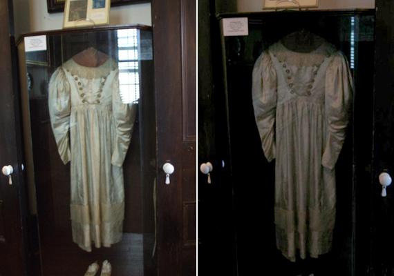 A kísérteties jelenségekről híres menyasszonyi ruha.
