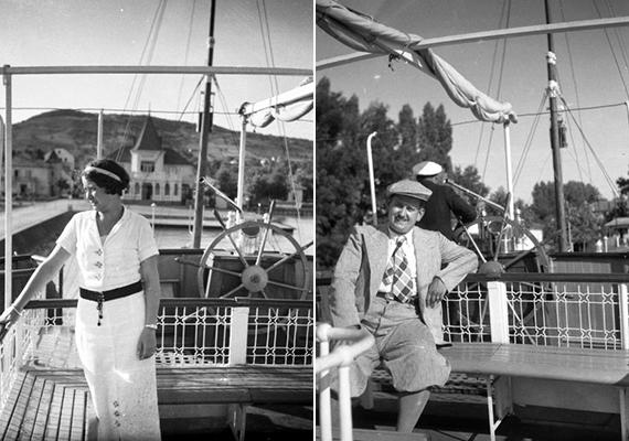 Bájos fotók 1936-ból, a Jókai csavargőzös fedélzetéről.