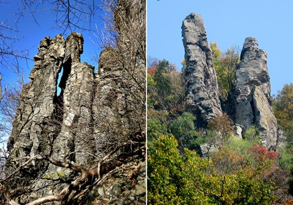 A Szent György-hegyiekhez hasonlóan híresek a Badacsony bazaltképződményei is.