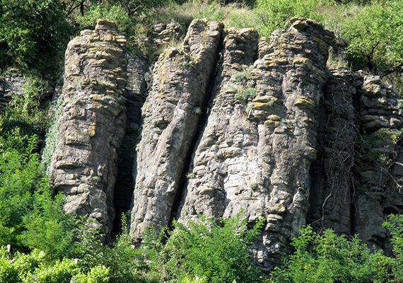 A bazaltorgonák látványa a Somló-hegyen is lenyűgöző.