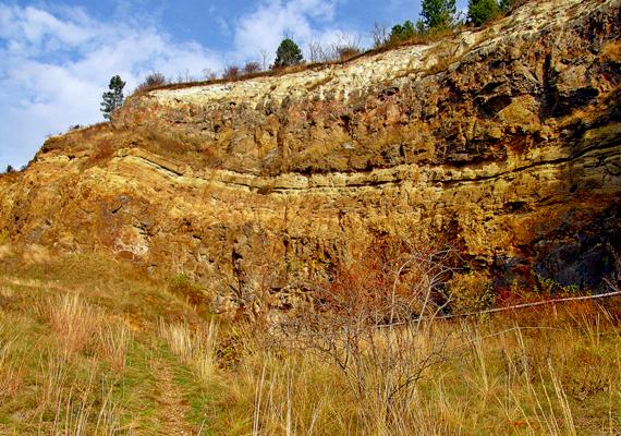 Az egykori sámsonházi kőfejtő helyszíne ma természetvédelmi területnek számít.