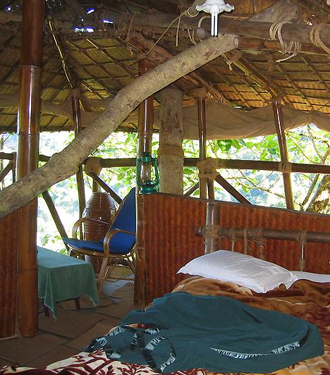 Green Magic Treehouses, IndiaA keralai esőerdőkben található hotel a faházakról szőtt gyermekkori ábrándok és a Tarzan-filmek atmoszféráját ötvözi a természet közelségével. A csaknem harminc méterrel a föld fölött, az esőerdő lombjai közé épült, függőhíddal és trópusi madarak által szolgált reggeli ébresztővel ellátott dzsungelházikó mindemellett teljes mértékben környezetbarát.