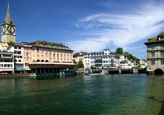 Svájc legnagyobb városa, a jómódú és hangulatos Zürich második lett a listán.
