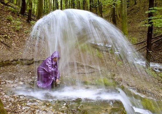 A forrásvíz akár egy-két méteres magasságba is feltörhet.