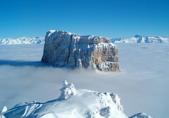 Ilyen páratlan látványban lehet része annak, aki az Alpoknak erre a részére látogat.