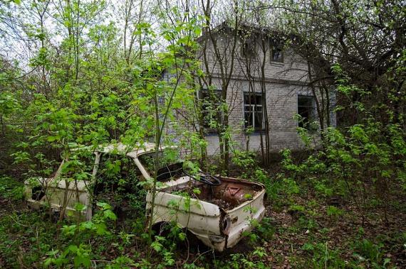 Lakóik olyan sietve hagyták el a házakat, hogy azóta a természet vette át az uralmat, békés otthont kínálva a környéken élő állatok számára.