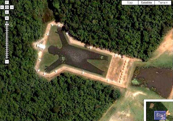 A brazíliai, borboremai tó megálmodóinak célja az volt, hogy alkotásukat az űrből is lehessen látni