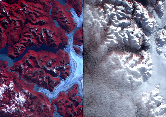 A chilei gleccsertó a globális felmelegedés áldozata lett: az olvadó gleccserek olyan sok vízzel töltötték fel, hogy a törmelékgát nem bírta, a tó pedig egyszerűen kifolyt a medréből. A második képen a tó hűlt helye látható. Ha még több részletre vagy kíváncsi, kattints ide!