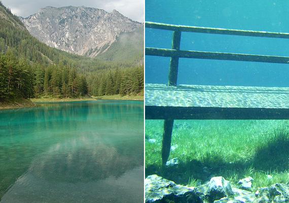 Az ausztriai, stájerországi Grüner See, vagyis Zöld-tó mesebeli hely: valójában egy kirándulóhelynek számító rét, mely minden tavasszal, köszönhetően a hóolvadásnak, tóvá alakul.