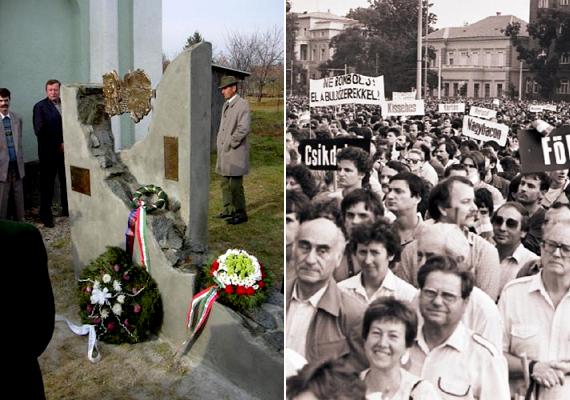 A romániai Bihar megyében helyezkedett el Mezőfalva, mely szintén a falurombolás áldozatává vált. A bal oldali képen a település és lakói előtt tisztelgő emlékmű látható, jobb oldalon pedig a román falurombolás ellen szervezett budapesti tiltakozás, melyen több tízezren vettek részt.