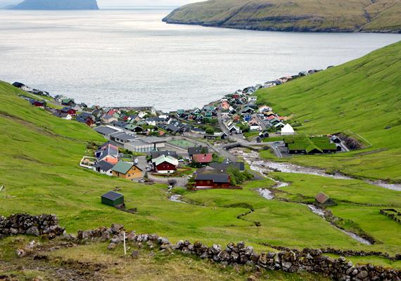 Vestmanna tipikus északi falu.