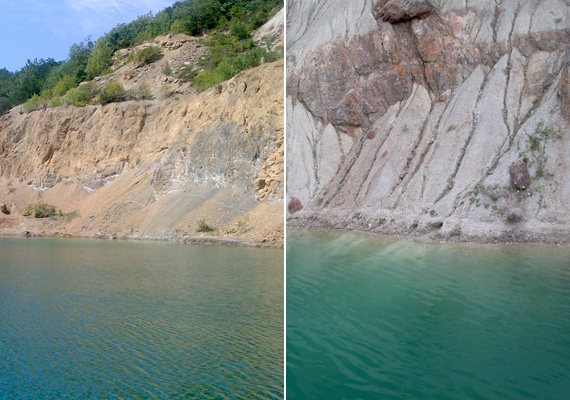 A rudabányai bányató hazánk legmélyebb tava, melyet néhol hetven méteres sziklafalak határolnak. Még több képért kattints ide!