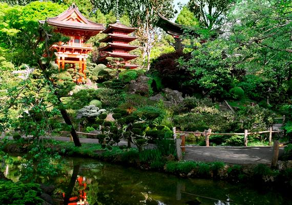 Japánkert a parkban.