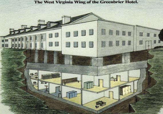 Az épület alatt nagy kiterjedésű, igen vastag fallal rendelkező bunker található, melynek célja az volt, hogy az Egyesült Államok Kongresszusának tagjait, a szenátust, valamint a több mint négyszáz képviselőt megóvja akár egy közeli nukleáris támadás esetén is.
