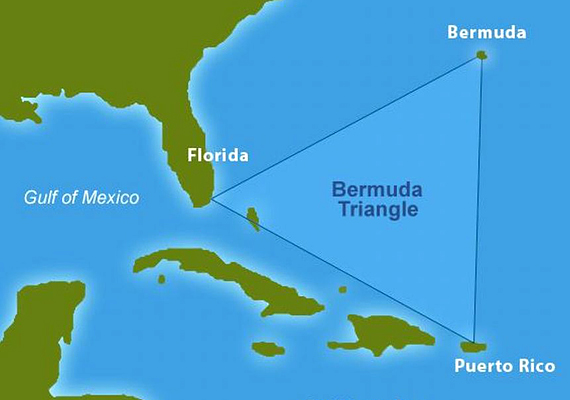 A Bermuda-háromszög hírhedt területe.